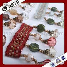 Bordure de perles multi-types de conception simple pour rideau déco
