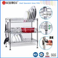 DIY хромированная стальная проволока кухня уголок посуда сушка стойку