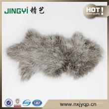 100% genuino de pieles de piel de oveja mongol rojo