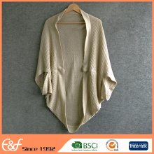Ladies Fancy Sweater Cardigan Without Buttons Poncho Sweater For Women