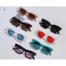 Venta caliente diseño creativo vintage retro gradiente acrílico mujeres gafas de sol de plástico
