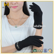 2015 Simple and Pretty Women Black WOOL GLOVES Fleece Lined (HOT-SELLINING STYLE)