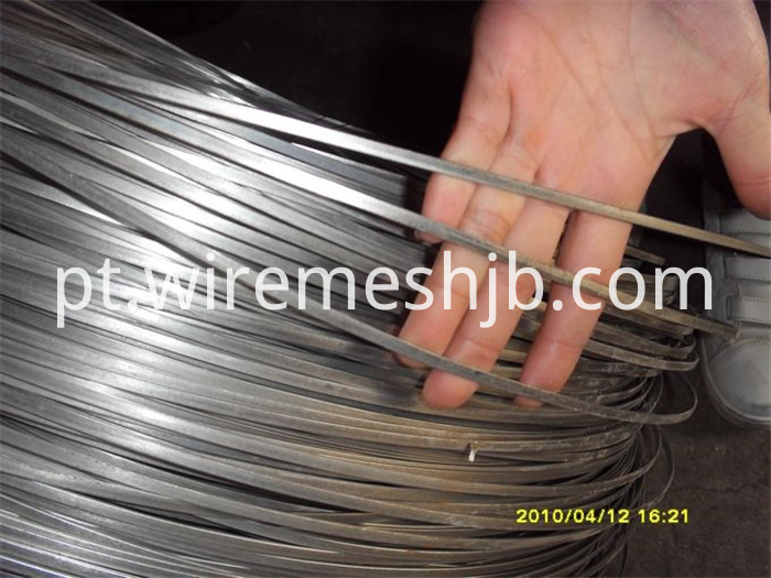 5.1x1.55 galvanized flat wire