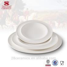 assiette promotionnelle de soupe de porcelaine d'os de vaisselle, vaisselle en céramique pour le restaurant