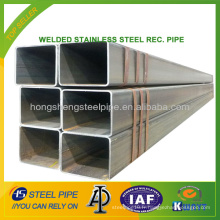 Tuyau en acier rectangulaire en acier inoxydable soudé
