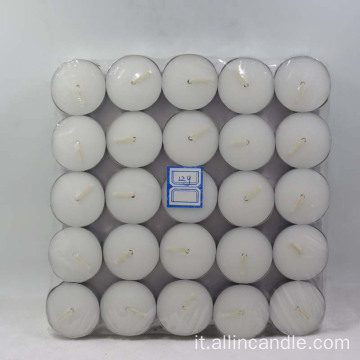 Vendita calda candele in cera 12g T-light per matrimoni