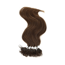 Wholesale High Quality 100% Real Human Knot Thread Hair Extension Virgin Hair Remy Brazilian Hair