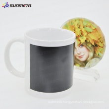 11oz color changing sublimation mug with black patch