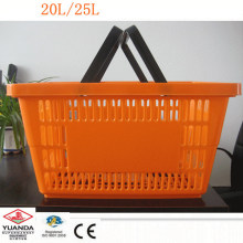 Store Small Plastic Shopping Supermarket Hand Basket (YD-Z6)