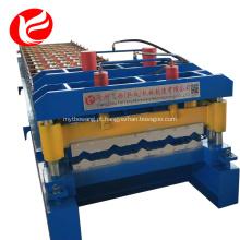 Rolo de telha vitrificada de aço formando máquina de linha de produção
