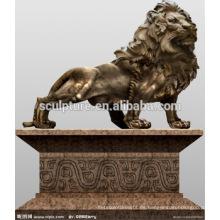 Grandes animales modernos animales Lion estatua de cobre de decoración al aire libre para el edificio urbano