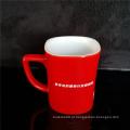 Copo cerâmico vermelho preto impresso caneca feito sob encomenda para a bebida