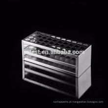 cremalheira de tubo de ensaio de aço inoxidável personalizado