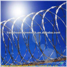Hot dip galvanized razor barbed wire in store
