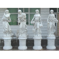 Marmor Carving Statue Geschnitzte Stein Carving Garten Skulptur für Dekoration (SY-X1195)