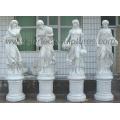 Statue en marbre sculpté Sculpture en pierre Sculpture Meubles de jardin pour décoration (SY-X1079)