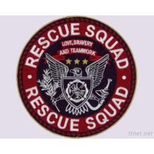 Rescue Squad Stickerei Design Patch