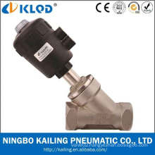 Piston type single acting normally closed Y type of angle seat valves, KLJZF-1.5""