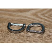Forma de liga de zinco metal material anel de D para a correia e bolsa