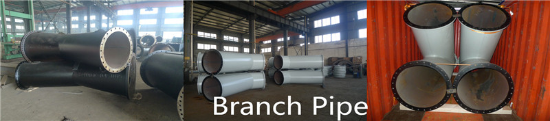 Steel pipes welded branches