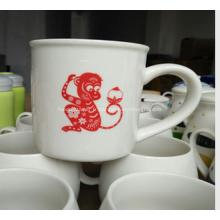 Tasse en céramique de couleur blanche imprimée promotionnelle