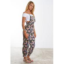 Nouvelle robe à imprimé floral ajustable Cami Shorts Jumpsuit