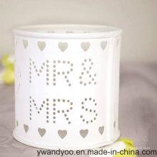 Bougie en verre blanc populaire de pot pour le mariage et le cadeau