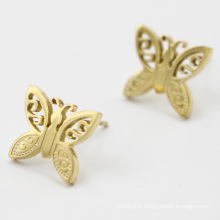 Stainless Steel Gold Plated Butterfly Earring Jewelry