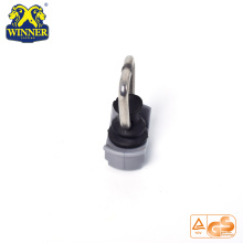 Plastic Base Single Stud Fitting With SS D Ring