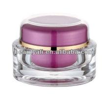 15ml 30ml 50ml vasos y tapas acrílicos cosméticos de la pared doble oval