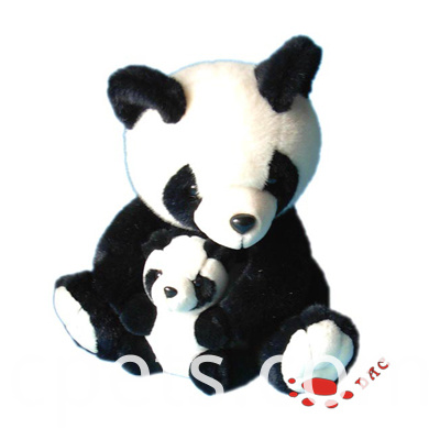 plush panda mami and baby set