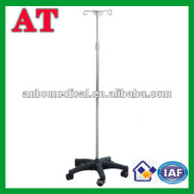 Height adjustable medical infusion stand with wheel