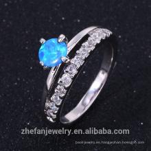 Buen anillo de joyería de elegent de ópalo de fuego de galjanoplastia de pricerhodium en alta calidad