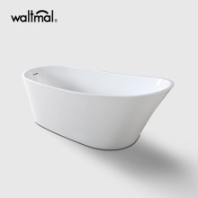 Slipper Shape Acrylic Free Standing Bathtub