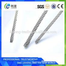 Aisi 316 7 * 19 * 8 Corda de aço inoxidável