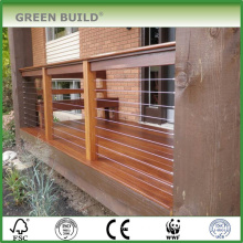 Teak color distressed Anti-scraped IPE hardwood garden decking