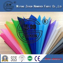Tissu non-tissé de sept couleurs pp pour des sacs à provisions (grande qualité)