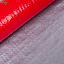 Серебристо-красный тканый брезент из полиэтилена с УФ-покрытием