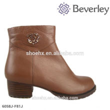 Плоский каблук женщин ботинки железные украшения дизайн моды для женщин зимние ботинки мех