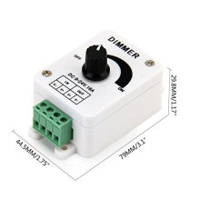 Regulador útil del amortiguador del botón giratorio de DC9-24V 16A PWM para la tira del solo color LED, luces LED con precio de fábrica