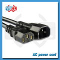 Electrical Power Extension Cord for TV Laptop Computer