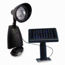 Rechargeable Batteries Black Security Solar Lighting Kits With Solar Panel And Led Light