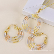 Xuping Fashion Multi-Color Copper Jewelry Set