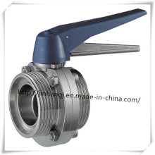 Sanitary Stainless Steel Butterfly Valve Male Thread