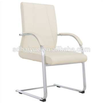 White Sled Base Visitors Chair, Conference Chairs, Meeting and Boardroom Chair