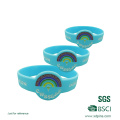 Pulseras de goma de encargo del color del relleno del logotipo / pulseras de goma baratas