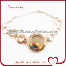 2015 en gros nouveau design en acier inoxydable montre bracelet / bracelet en or rose