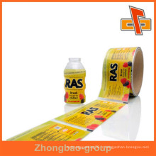 Acceptez une commande personnalisée en Chine Rouleaux de film en plastique pvc OEM pour bouteilles de boissons avec votre propre logo