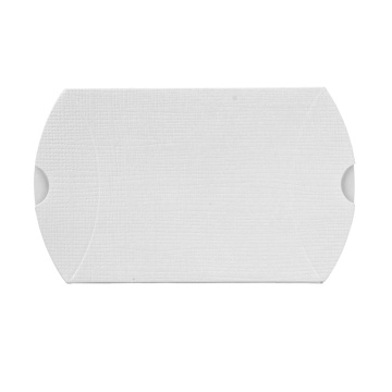 Custom White Fancy Paper Pillow Packaging Box