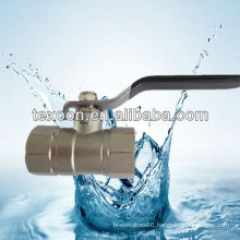 nickel plated reducing port brass ball valve with new bonnet steel handle light duty